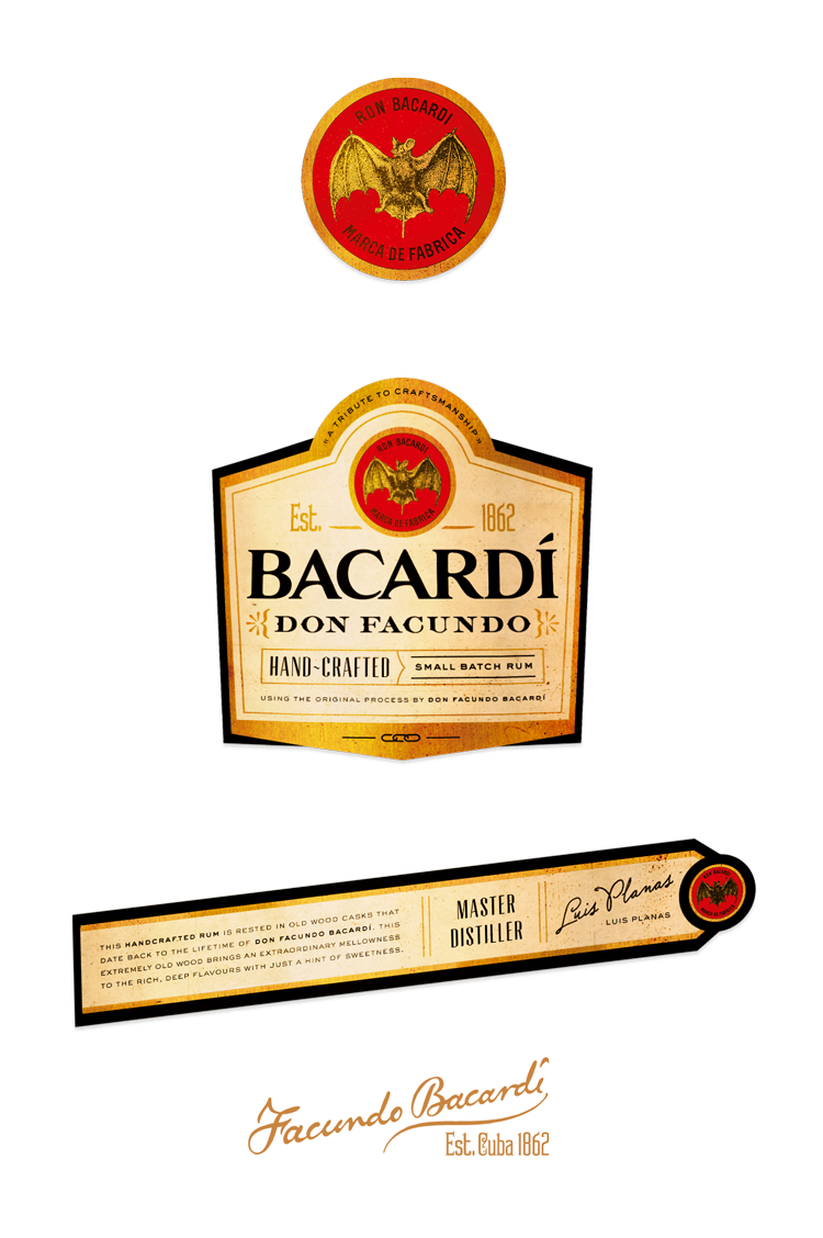 Bacardi Bottle Label bacardi don facundo - ryan doggendorf ...